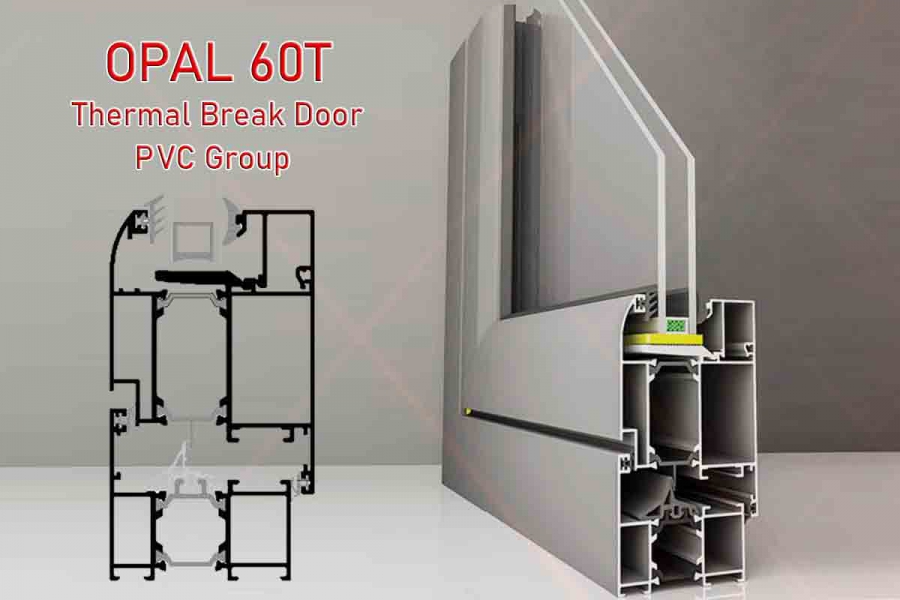 Opal 60T Thermal Break Door PVC Group