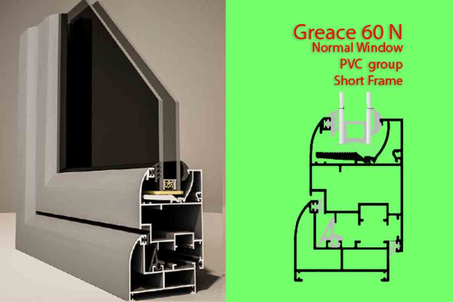 Greace 60N Normal window PVC Group Short Frame