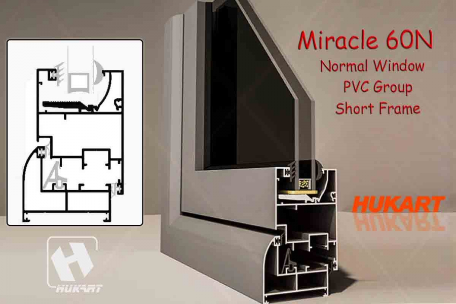 Miracle 60N Normal Window PVC Group Short Frame