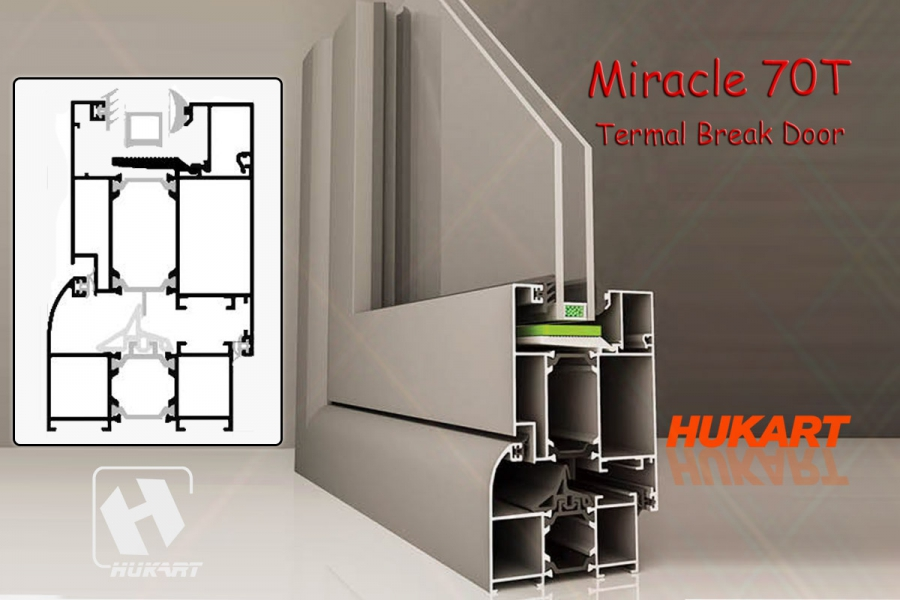 Miracle 70T Termal Break Door